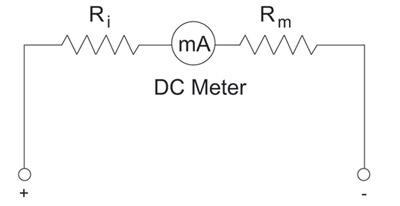 Figure 1. DC voltmeter circuit