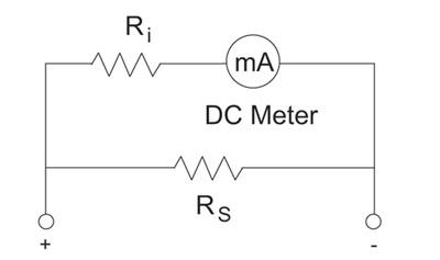 Figure 2. DC ammeter circuit