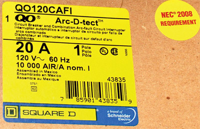 Photo 3. Example of the manufacturer's efforts to package products for the combination AFCI requirements