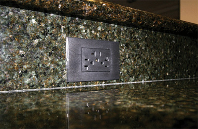Photo 2. Example of kitchen countertop receptacles