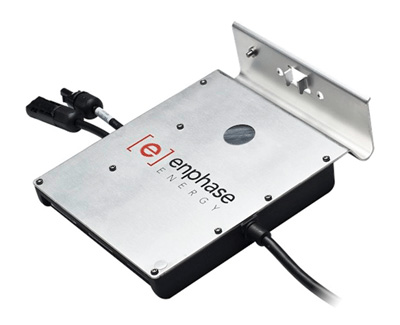 Photo 2. Microinverter with single grounding terminal for both equipment grounding and dc grounding electrode conductor connections. Photo courtesy Enphase.