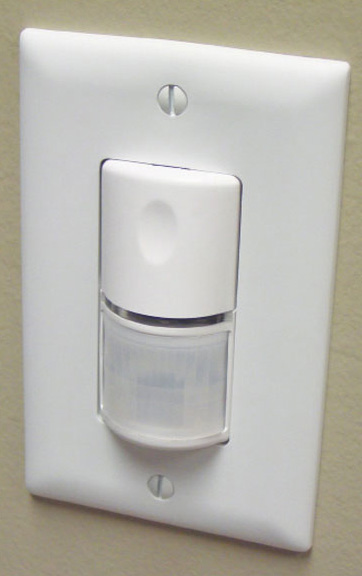 Photo 2. Typical occupancy sensor switch