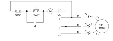 Figure 1. Full voltage three-wire control