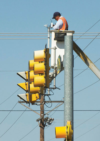 Photo 2. Traffic signal Photo courtesy of John Watson