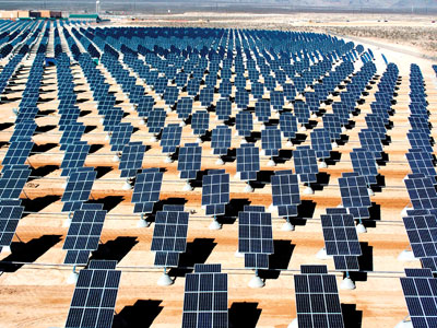 Photo 5. In the desert in the southwest, solar generation stations are being built