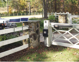 Photo 2. PV-powered electric gate. Courtesy MightyMule/GTO