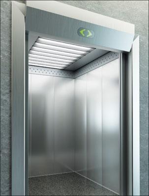 Photo 1. Typical elevator lighting