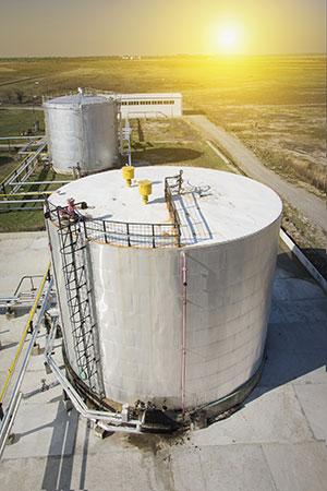 Photo 2. Aboveground storage tanks