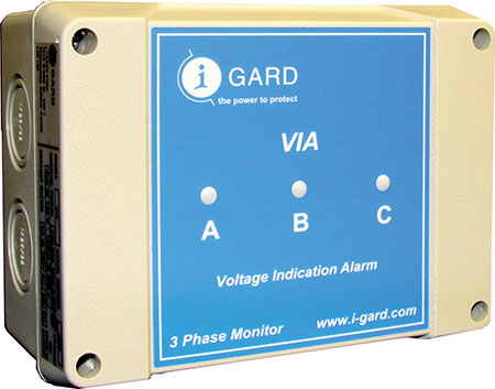 Photo 4 shows a ground fault detection device that can be used to satisfy Rule 10-106. Photo provided by i-Gard.