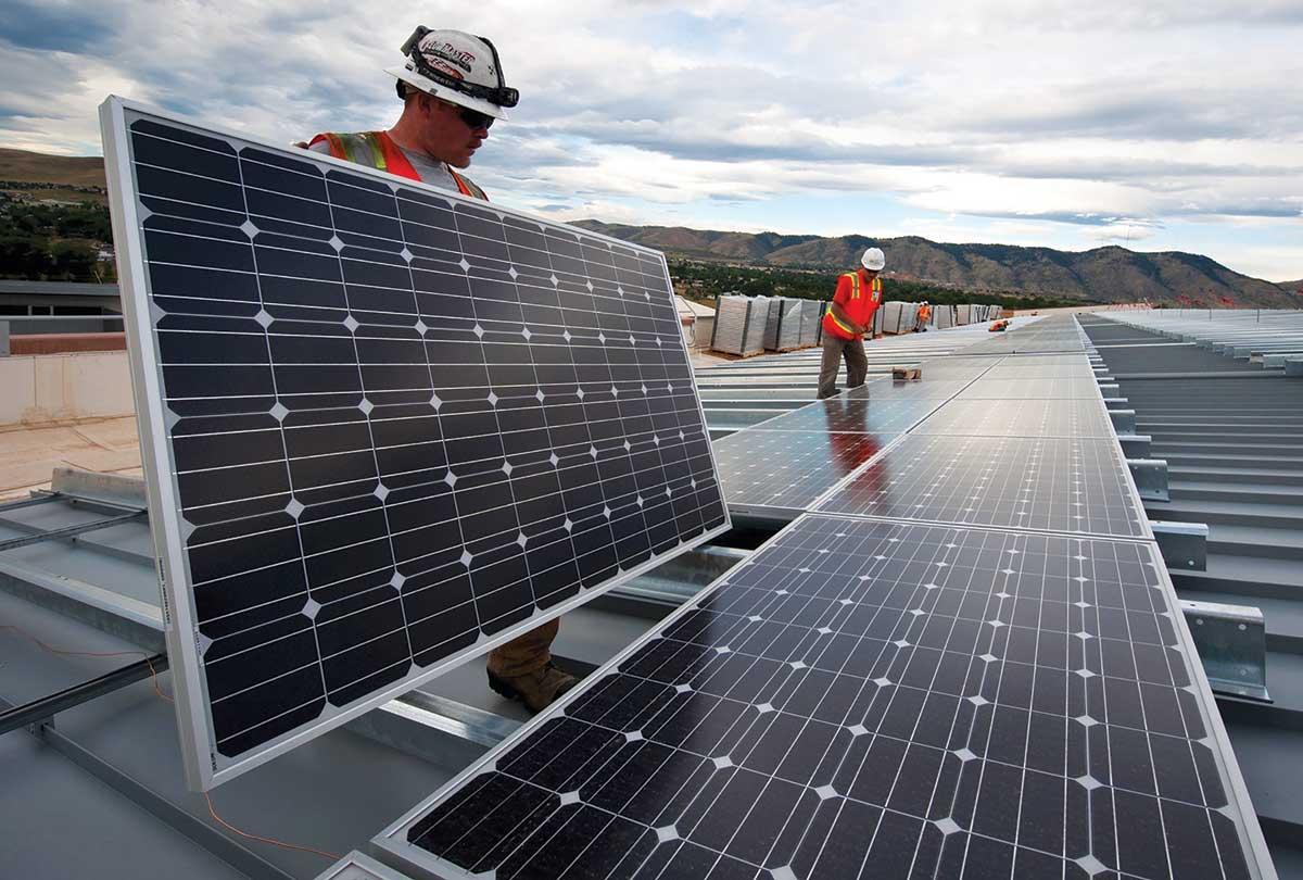 Installation of solar panels